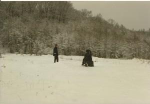 Am Fuße der Karpaten im Schnee